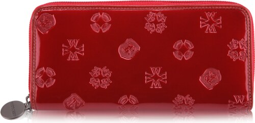 Wittchen luxusná značková kožená peňaženka červená lakovaná Signature  34-1-393 909f347460c
