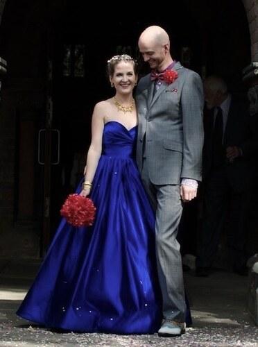 273b4d129e7 Společenské Dlouhé šaty Královská Modrá Rita