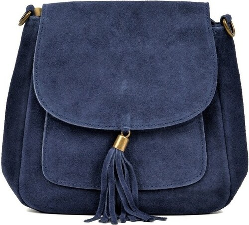 Modrá kožená kabelka Anna Luchini Ben - Glami.sk 976a0bf33ff
