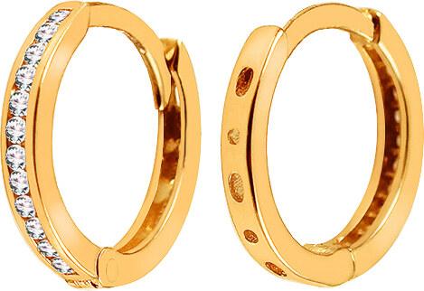 37e8b8822 iZlato Forever Zlaté náušnice so zirkónmi krúžky IZ13845L - Glami.sk