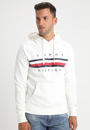 62871ede81b Pánská mikina Tommy Hilfiger s kapucí - bílá - Glami.cz