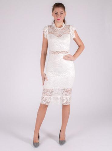 4487372a9bf6 JA.Moda Elegantné čipkované biele šaty - Glami.sk