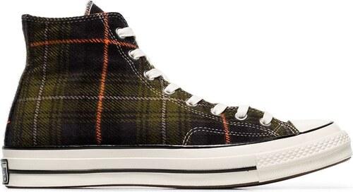Converse Chuck 70 Classic Hi-Top Plaid Sneakers - Green - Glami.cz ba79c9140a