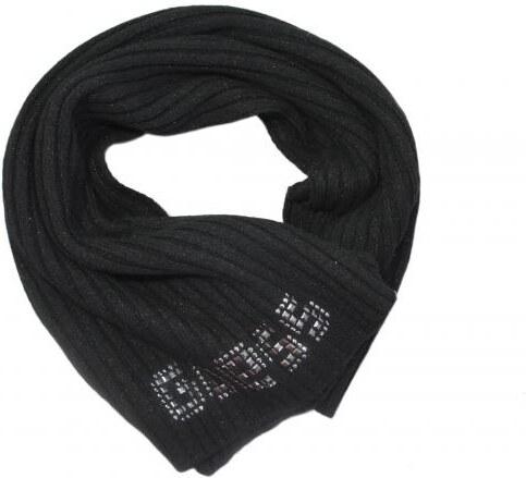 Šála Guess Black logo scarf SAMOA - Glami.cz 2d42dfacea