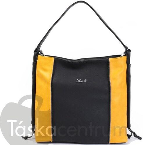D 287 Fekete-Sárga AKCIÓS Karen rostbőr női válltáska - Glami.hu 08c0ee940d