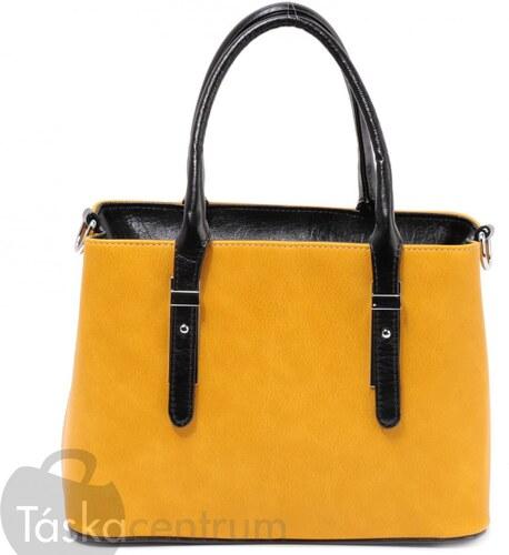 1382 Sárga Karen rostbőr női elegáns női táska - Glami.hu 6a5dc45db1