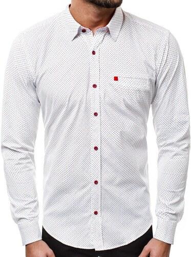OZONEE R K51 Pánská Košile Bílá - Glami.cz bf84355ede