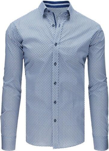 753d58c77eb9 Buďchlap Bielo-granátová bodkovaná košeľa - Glami.sk