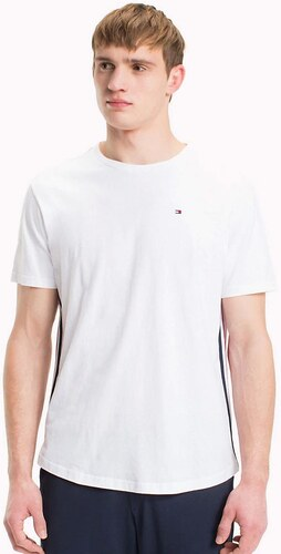 f4c98c2351e7 TOMMY HILFIGER Biele tričko Modern Stripe CN Tee S - Glami.sk