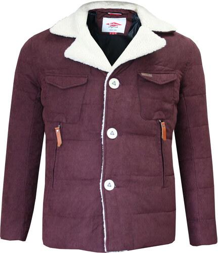 60df1ed16 Lee Cooper Sherpa Collar bunda pánské, Burgundy - Glami.sk
