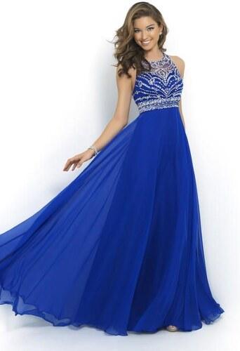 Nádherné šifonové společenské šaty v královské modré barvě - Glami.cz 1b02b8760d