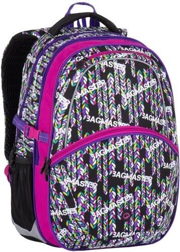 50ce182d79 Školní batoh Madison 7 B black pink violet - Doprava zdarma ...