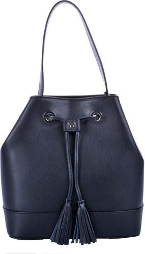 574e38949a elegantní kožená kabelka - vak 5324 černá