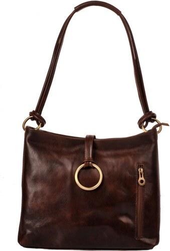 Dámská kožená kabelka 095 tmavě hnědá 47e6a1151ed