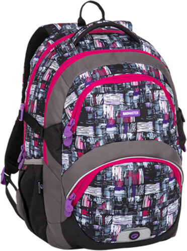 Bagmaster THEORY 8 A black gray pink - Glami.cz 04701dae64