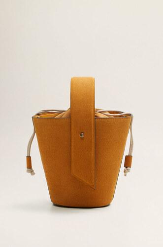 1a3fa278a361 Mango - Bőr táska Mariah - Glami.hu