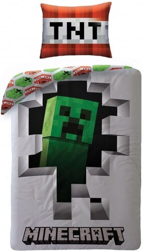 7c8d58c9c754 Halantex Bavlnené posteľné obliečky Minecraft Creeper - Glami.sk
