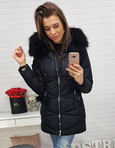 -45% BASIC Čierna zimná bunda MILLO s bambuľkou na vreckách (ty0431) 780bd30289e