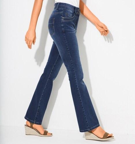 Blancheporte Strečové bootcut džíny v opraném vzhledu modrá - Glami.cz b647238daf