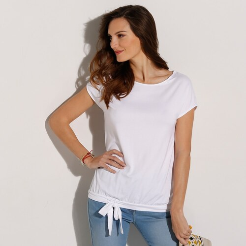 6c288b513577 Blancheporte Jednofarebné tričko s krátkymi rukávmi biela - Glami.sk