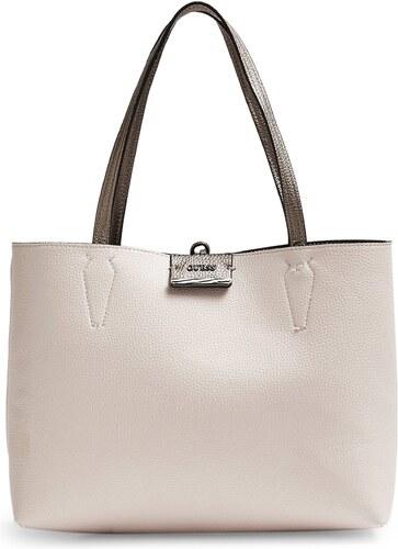 GUESS Dámská velmi velká oboustranná kabelka typu Shopper Guess 2v1 Béžová 7c32680278d