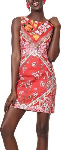 Desigual červené šaty Vest Lisa s barevnými motivy - 38 - Glami.cz aa76df3eed