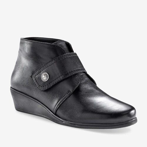 Blancheporte Členkové topánky na suchý zips čierna - Glami.sk 2342f792f0d