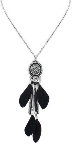 a3d2d7518723 B-TOP Dámsky BOHO náhrdelník s príveskom LAPAČ SNOV - čierny - Glami.sk