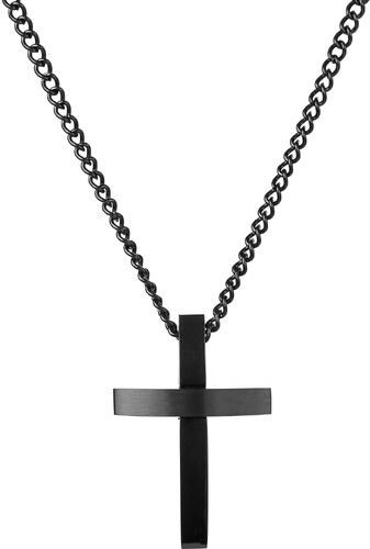 Fort Tempus Náhrdelník s príveskom v tvare kríža so skosenými hranami 572b193fe1d