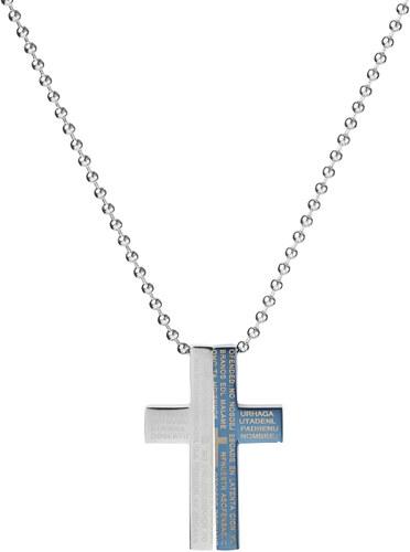 Fort Tempus Náhrdelník s príveskom v tvare kríža s dvoma dielmi ... c994b3cee25