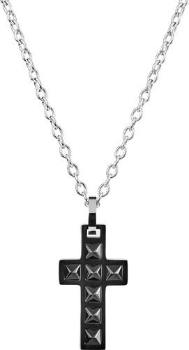 Fort Tempus Náhrdelník s príveskom v tvare kríža s vybíjaným dizajnom bd5006b9d78