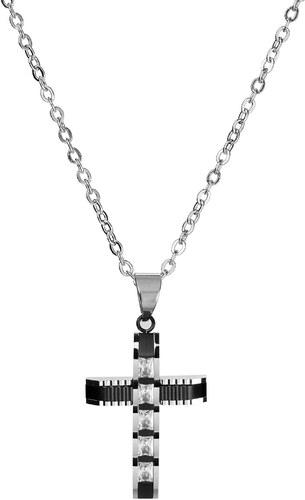 Fort Tempus Náhrdelník s príveskom v tvare kríža s drahými kameňmi ... d8f81fee73b