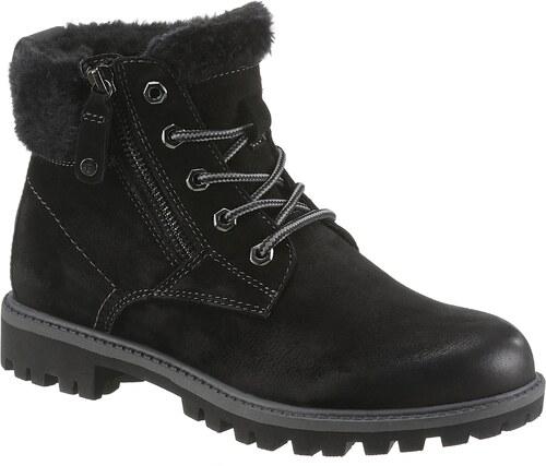 916a5408eff5 Tamaris Šnurovacie členkové topánky »Papaw« čierna - Glami.sk