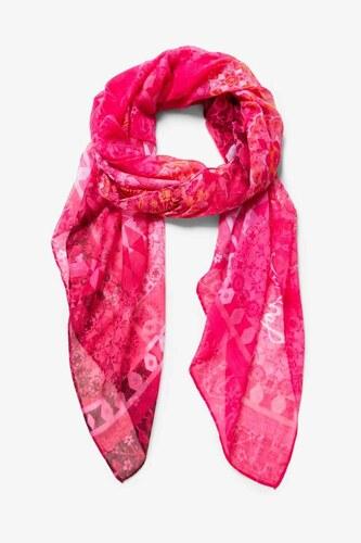 šátek Desigual Flirt fucsia glamour - Glami.cz c0fdb57aa5