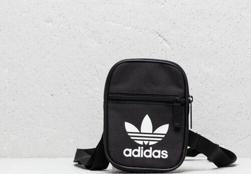 30708e4b34cd adidas Originals adidas Trefoil Festival Bag Black  White