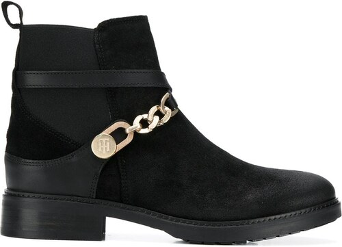 Tommy Hilfiger chain embellished ankle boots - Black - Glami.sk a0f2317b06e