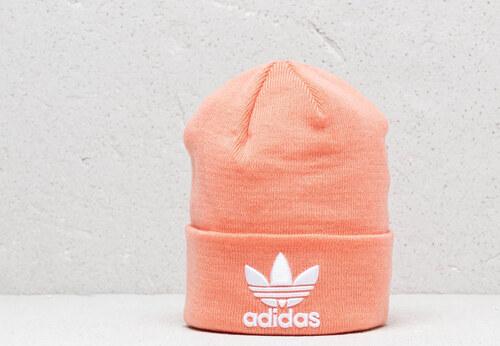 brand new 7a892 7c292 adidas Originals adidas Trefoil Beanie Dust Pink  White