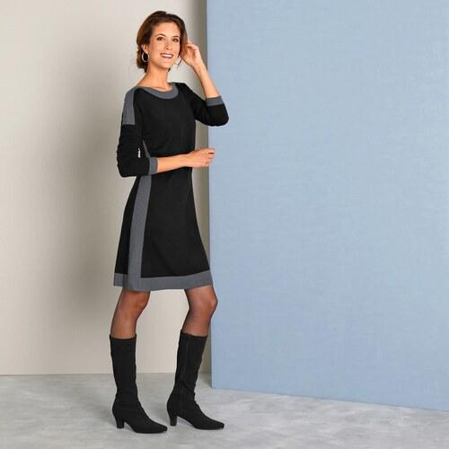9d3e3cba3dcf Blancheporte Pletené šaty s lodičkovým výstrihom čierna - Glami.sk