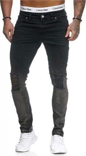 Pánské roztrhané džíny slim fit RJ-5123 - Glami.cz d7042da2f3