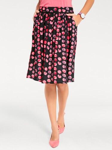 1e95a479057d heine TIMELESS Vzorkovaná sukňa s bodkami čierna-ružová - Glami.sk