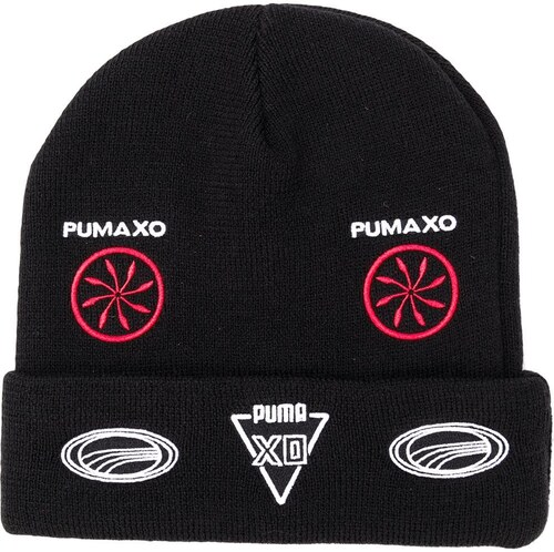 e90100f1781 Puma folded beanie with patches - Black - Glami.sk