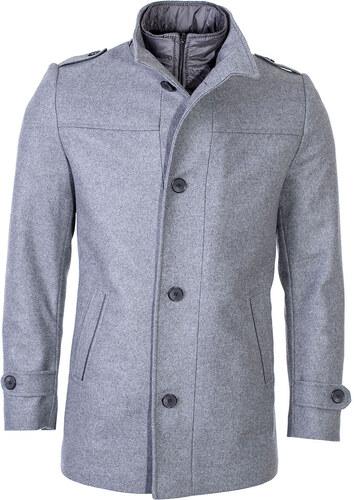 Zapana Pánsky spoločenský vlnený kabát Ronnie šedý - Glami.sk 6b40d7910fb