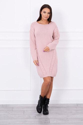 883085e52f0b Svetrové šaty růžové - Glami.cz