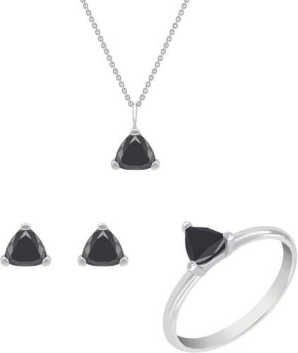 bbf8f3841 Eppi Zlatá kolekcia šperkov s čiernymi trillion diamantmi Lesly ...