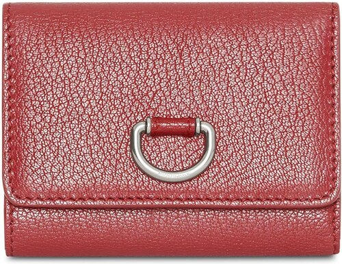 Burberry Small D-ring Leather Wallet - Red - Glami.sk 38354b4257a