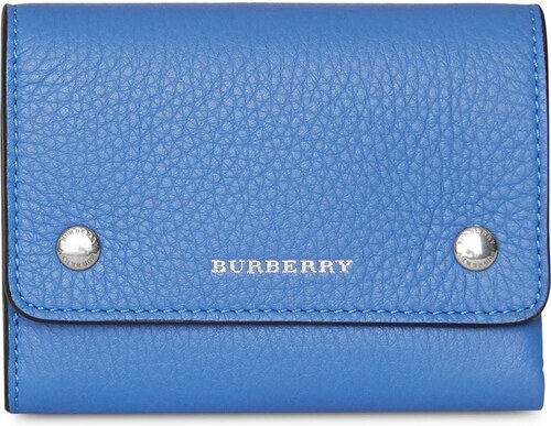 Burberry Small Leather Folding Wallet - Blue - Glami.sk 09da186eca4