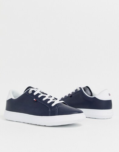 4014e00b66 -20% Tommy Hilfiger essential leather icon logo trainer in navy - Midnight