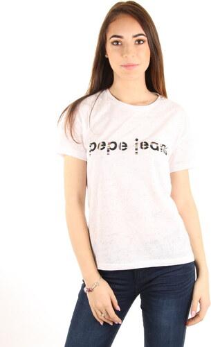 Pepe Jeans dámské bílé tričko Catalina - Glami.cz 1f17fc5fc9