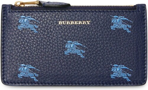 Burberry Equestrian Knight Leather Zip Card Case - Blue - Glami.sk 45e2465b85d