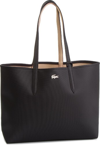 ea5a372641 Táska LACOSTE - Shopping Bag NF2142AA Black Warm Sand A91 - Glami.hu